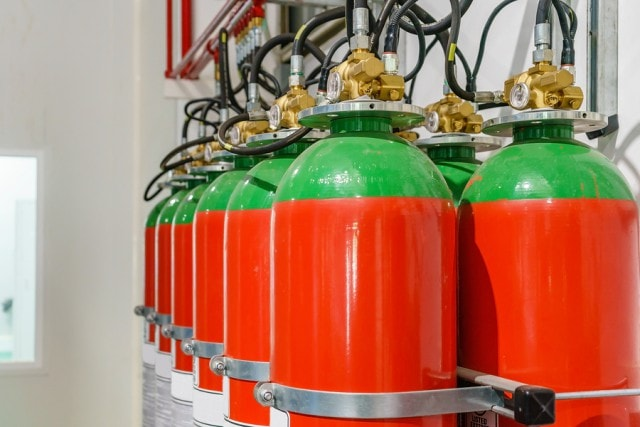 fire suppression system for kitchen hood